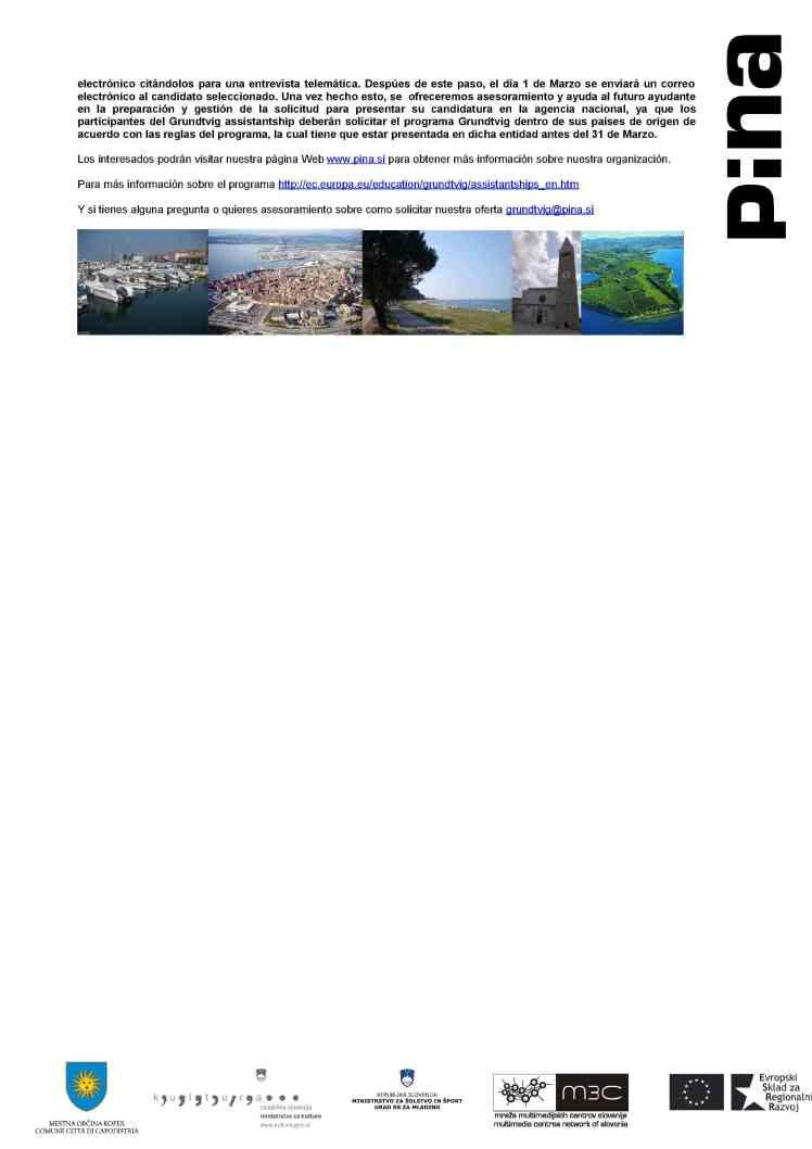 Call for Grundtvig Assistant en ESLOVENIA3