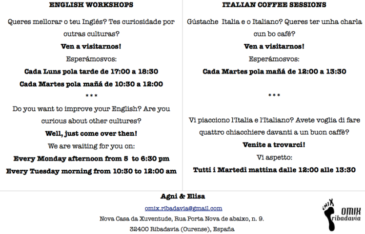 poster languages english and italian